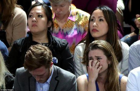 Bau cu Tong thong My: Nguoi ung ho Clinton nuoc mat dam dia - Anh 3