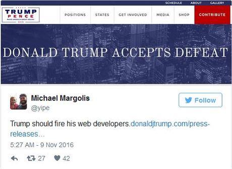 Trang web cua tan tong thong Hoa Ky Donal Trump bi tin tac tan cong - Anh 1