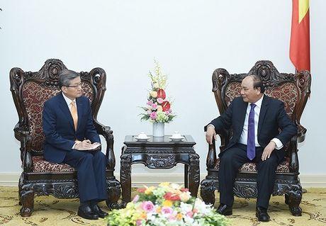 Thu tuong tiep lanh dao mot so doanh nghiep Han Quoc - Anh 1