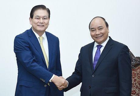Thu tuong tiep lanh dao mot so doanh nghiep Han Quoc - Anh 2