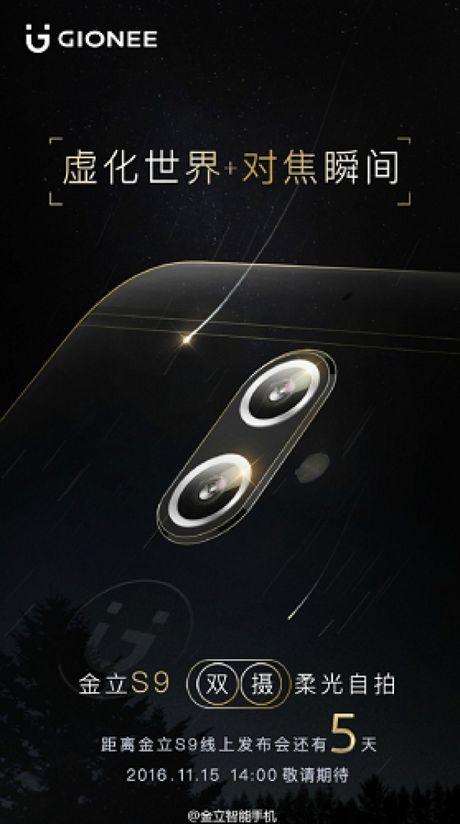 Smartphone Gionee S9 voi camera kep se ra mat vao ngay 15/11? - Anh 1