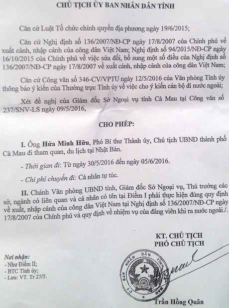 Se kiem tra vu Chu tich TP Ca Mau di nuoc ngoai - Anh 2