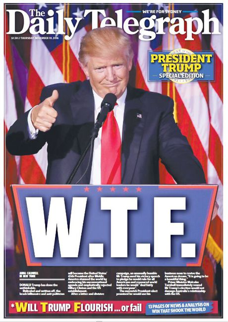 Bao chi Uc 'soc' truoc chien thang cua Donald Trump - Anh 2