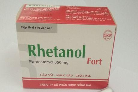 Khong dat chat luong, thuoc Rhetanol Fort bi dinh chi luu hanh - Anh 1