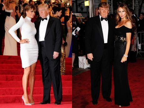 Vo chong Donald Trump dien do an y khi sanh doi - Anh 3