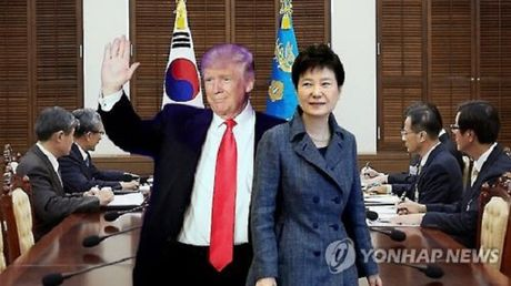 Ong Trump cam ket bao ve Han Quoc - Anh 1