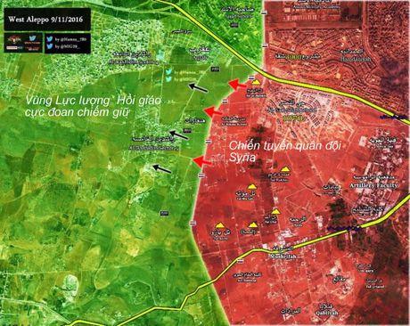 Chien su Aleppo: Dap tan tuyen phong thu, quan doi Syria thua thang diet dich - Anh 1