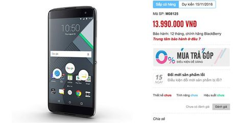 Blackberry DTEK60 lo gia ban 14 trieu tai Viet Nam - Anh 2