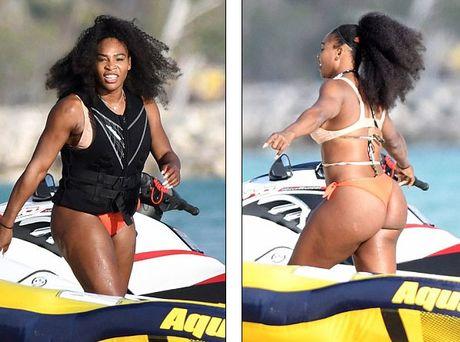 Sao quan vot Serena Williams khoe vong 3 ngon ngon voi bikini - Anh 2