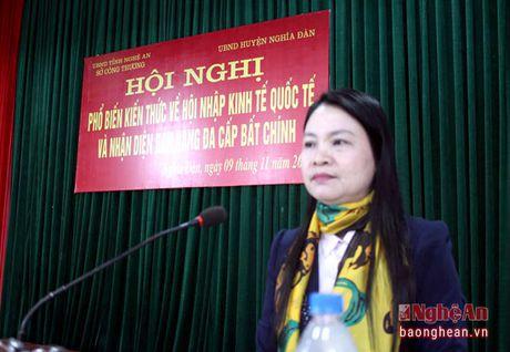 Nhan dien ban hang da cap bat chinh tai Nghia Dan - Anh 1
