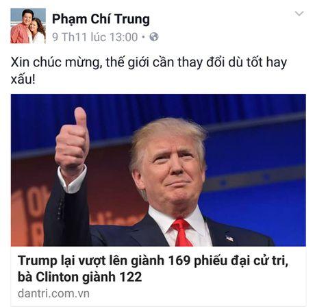 Sao Viet xon xao khi ong Donald Trump dac cu Tong thong My - Anh 5