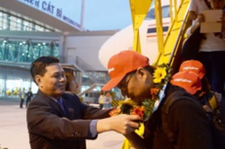 VJA khai truong duong bay Hai Phong – Bangkok - Anh 1