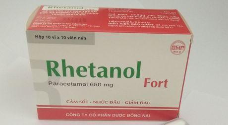 Thuoc Cefpodoxime Proxetil, thuoc Rhetanol Fort bi dinh chi luu hanh, thu hoi - Anh 1