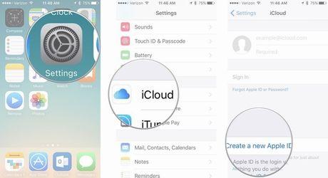 Cach tao moi tai khoan Apple ID cho iPhone hoac iPad - Anh 1