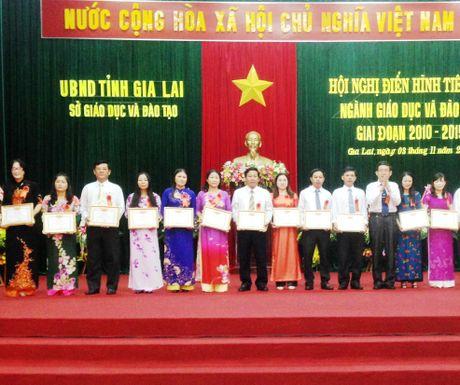 Gia Lai: Nhieu thay co giao duoc tang Bang khen cua Bo truong Bo GD&DT - Anh 1
