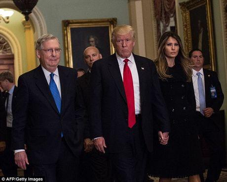 Phu nhan Trump tinh tu nam tay chong trong toa nha Quoc hoi - Anh 2