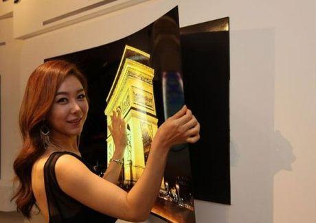 LG sap ban ra thi truong TV dan tuong - Anh 1