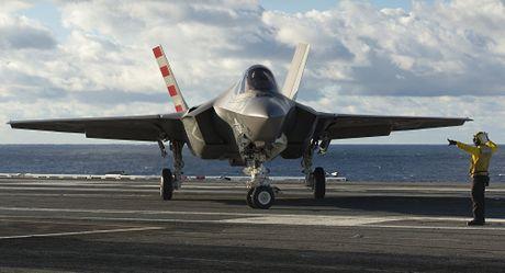 Phi cong My thao lap may bay F-35B ngay tren bien - Anh 3