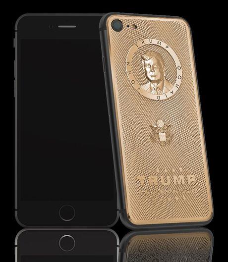 iPhone 7 vang khac chan dung Donald Trump gia 3.000USD - Anh 1