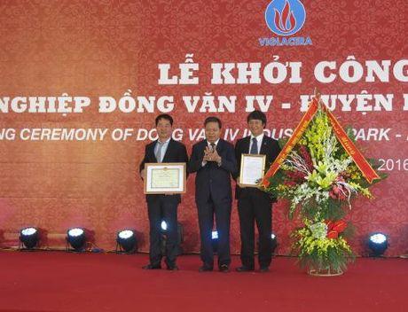 Khoi cong xay dung Khu cong nghiep Dong Van IV - Anh 1