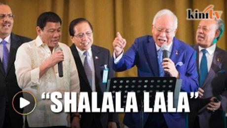 Tong thong Philippines va Thu tuong Malaysia hat karaoke - Anh 1