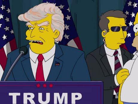 Hoat hinh 'Nha Simpson' tien tri ong Donald Trump lam Tong thong tu nam 2000 - Anh 1