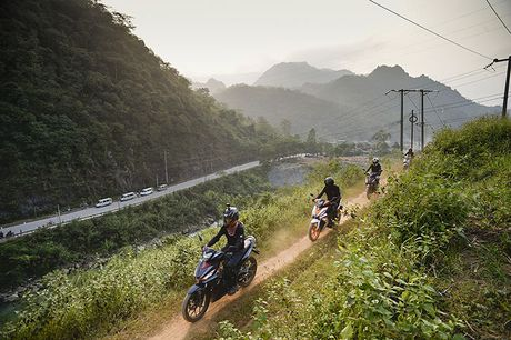 Honda Winner 150 phuot o cuc Bac Ha Giang - Anh 8
