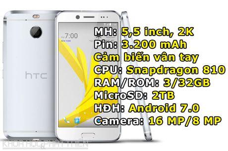 HTC Bolt trinh lang: Giong HTC 10, chong nuoc, bo jack tai nghe 3,5 mm - Anh 1