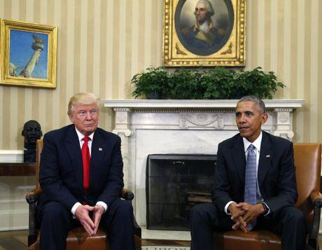Hinh anh hoi dam lich su giua Obama va Trump - Anh 2