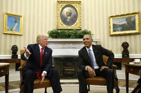 Hinh anh hoi dam lich su giua Obama va Trump - Anh 3