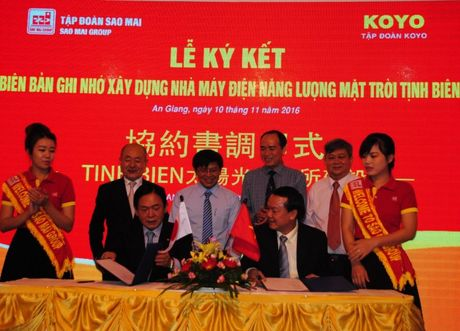 Tap doan Sao Mai bat tay voi Koyo Group lam Nha may dien mat troi 6.000 ty dong - Anh 1