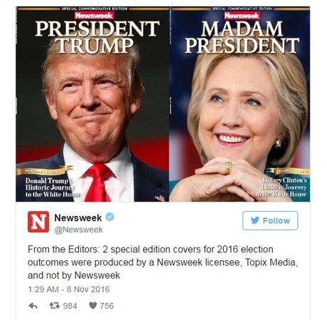 To Newsweek phai thu hoi 125.000 ban vi in san ba Clinton trung cu - Anh 2