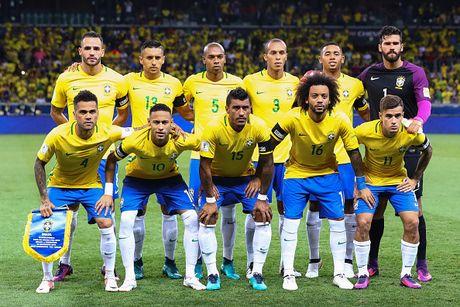 BXH VL WC 2018 khu vuc Nam My: Brazil dan dau, Argentina lam nguy - Anh 1