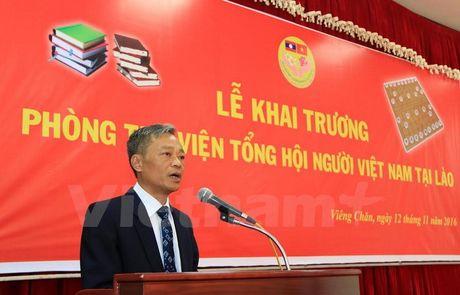 Khai truong thu vien tai Tru so Tong hoi nguoi Viet Nam tai Lao - Anh 3
