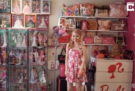 Ngoi nha trang tri ngap bup be Barbie cua mot fan cuong 34 tuoi - Anh 1