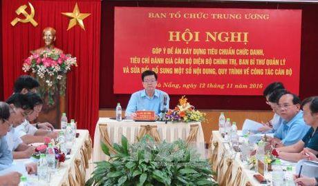 Xay dung tieu chuan chuc danh, tieu chi danh gia can bo dien Bo Chinh tri, Ban Bi thu quan ly - Anh 1