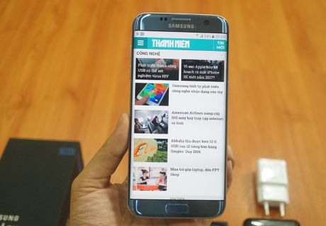 Can canh mau sac xanh coral moi tren Galaxy S7 edge - Anh 1