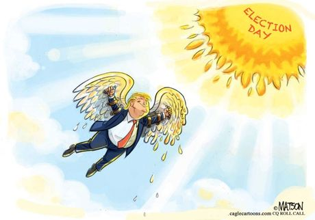 Thien than Trump cat canh trong tranh biem hoa - Anh 1