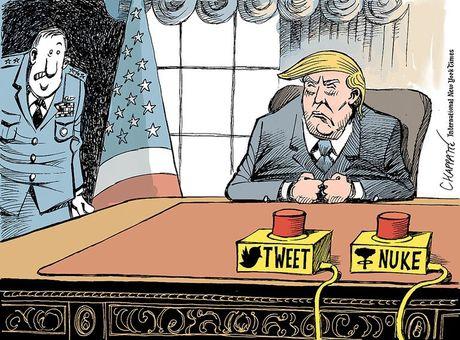 Thien than Trump cat canh trong tranh biem hoa - Anh 3