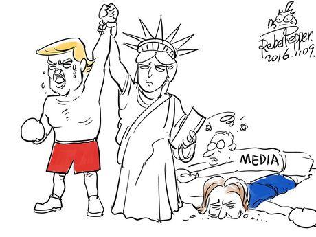 Thien than Trump cat canh trong tranh biem hoa - Anh 8