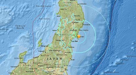 Dong dat manh tan cong Nhat, gan Fukushima - Anh 1