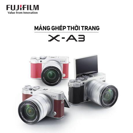 FUJIFILM gioi thieu X-A Series moi voi X-A3- Mang ghep thoi trang - Anh 2