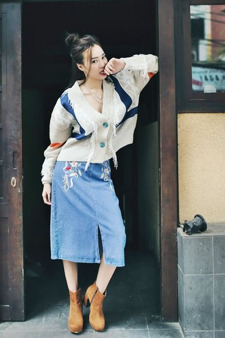 Ngam street style cua sao Viet nhung ngay dau dong - Anh 1