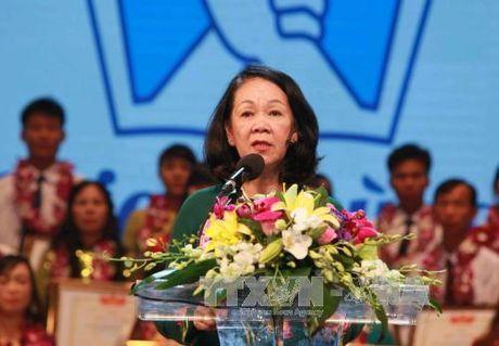 Truong Ban Dan van Trung uong Truong Thi Mai du Ngay hoi dai doan ket toan dan toc - Anh 1