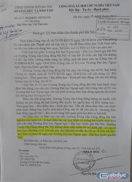 'Truong trung cap Cong dong khong duoc thu ho so, kinh phi hoc vien' - Anh 1