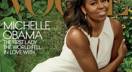 Michelle Obama, nguoi phu nu quyen luc 3 lan xuat hien tren bia Vogue - Anh 1