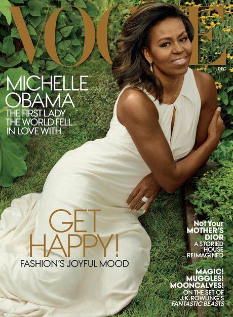 Michelle Obama, nguoi phu nu quyen luc 3 lan xuat hien tren bia Vogue - Anh 2