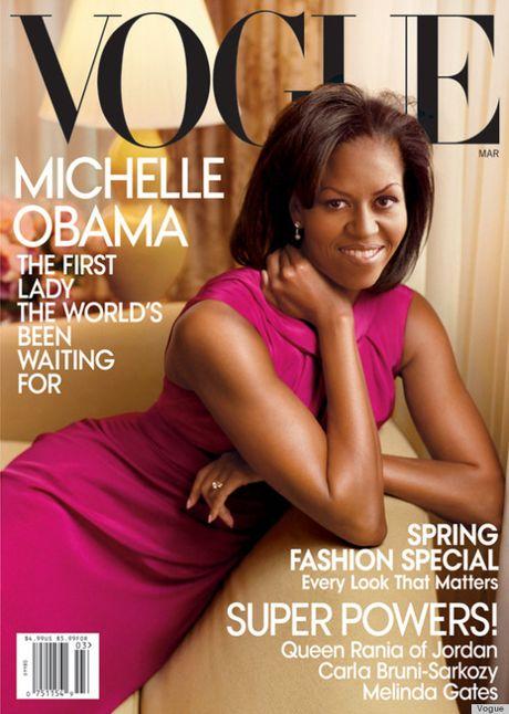 Michelle Obama, nguoi phu nu quyen luc 3 lan xuat hien tren bia Vogue - Anh 4