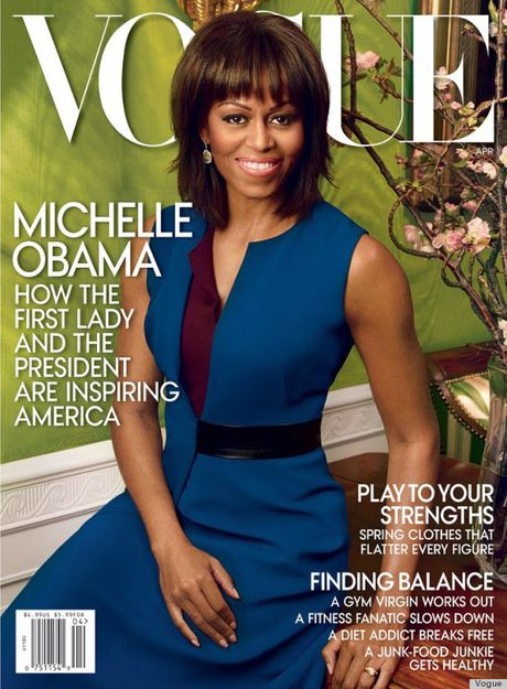 Michelle Obama, nguoi phu nu quyen luc 3 lan xuat hien tren bia Vogue - Anh 5