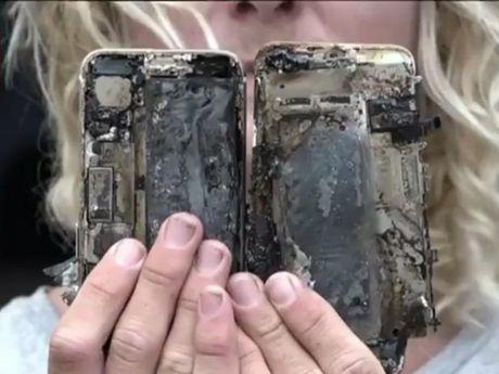 iPhone 7 Plus chay rui sau khi bi roi - Anh 1